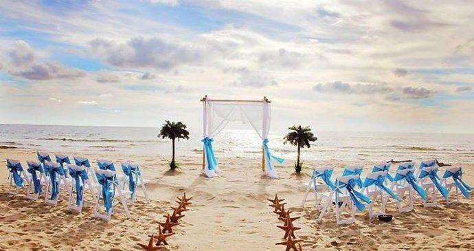 La mer, comme thème de mariage !
